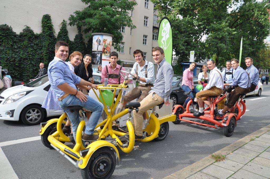 Geselliger Afterwork-Spass auf den Conference-Bikes!