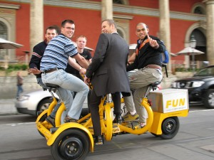 rent a conference bike at pedalhelden.de in munich