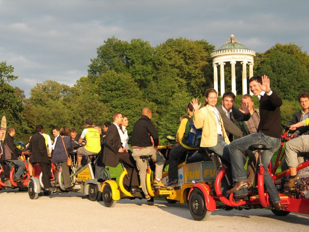 mieten von conference bikes bei pedalhelden.de
