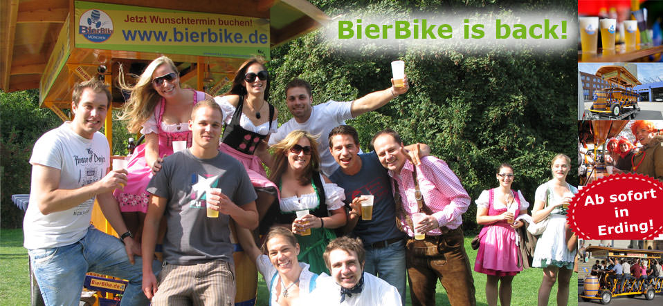 BierBike, das Original in Erding!