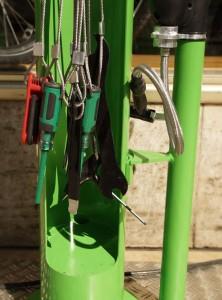 Werkzeuge der kostenlosen Radl-Service-Station