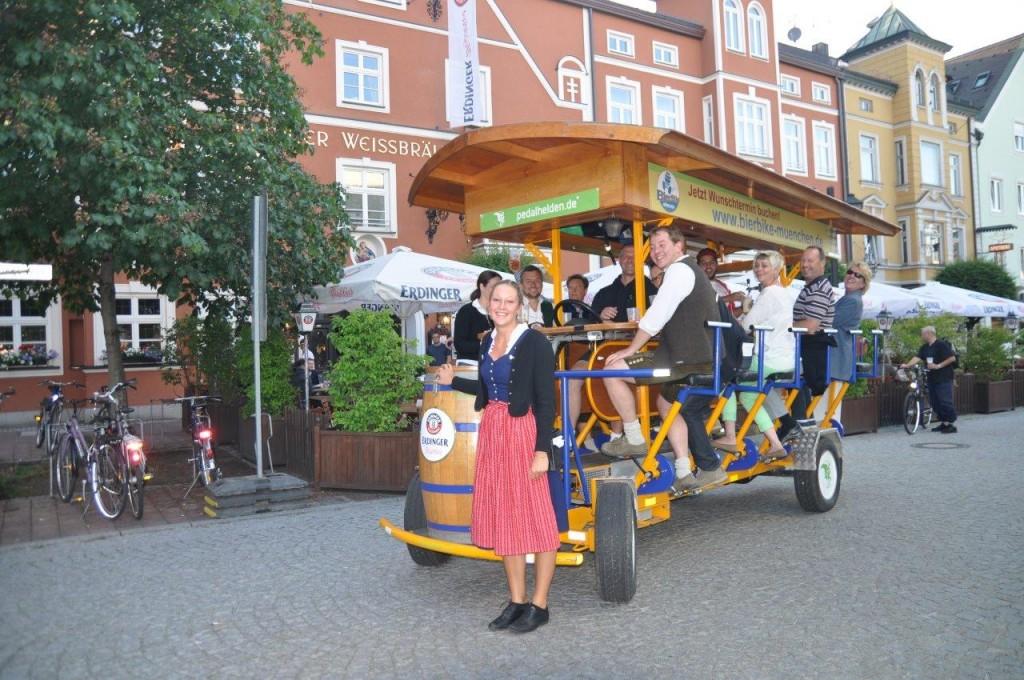 Original-BierBike: in Erding erlaubt, in München verboten!