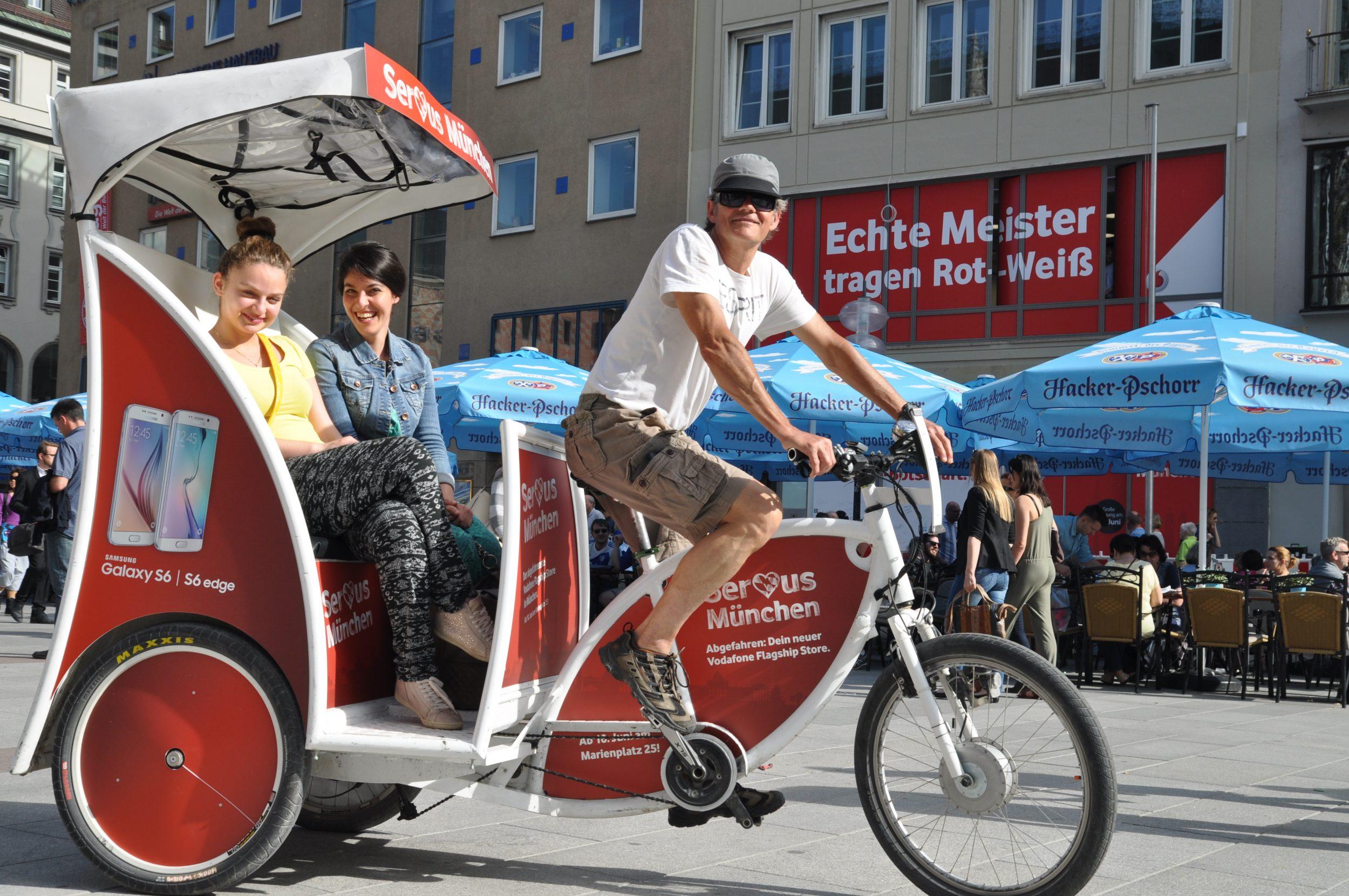 Rikscha in München spontan bestellen!
