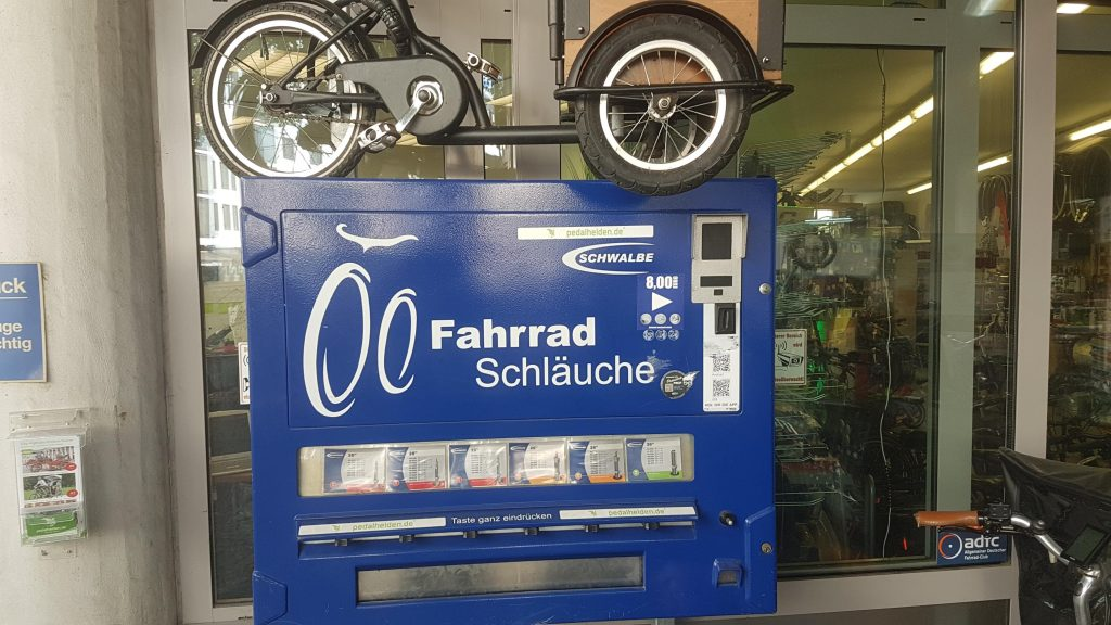 Schlauchomat an der Cyclewash-Maschine